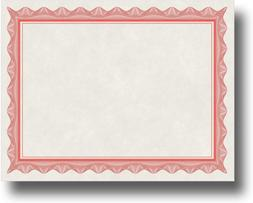 Blank Parchment Certificate Paper for Awards - Works with In