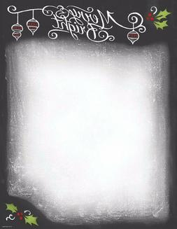 Great Papers Christmas Chalkboard Holiday Letterhead Printer